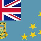 Tuvalu State Flag Stickers by Mark Podger