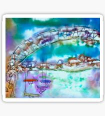 Cape Cod Traffic Jam Abstract Art Sticker