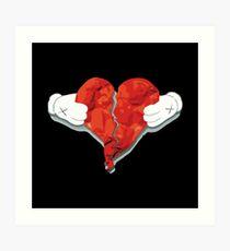 Heart Break Art Print