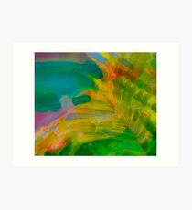Abstract Palm Art tshirt Art Print