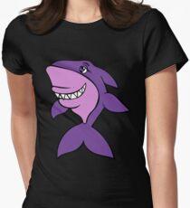 Purple Shark  Women's Fitted T-Shirt