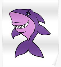 Purple Shark  Poster
