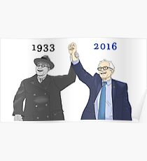 Franklin D. Roosevelt & Bernie Sanders | 1933 2016 Years Poster