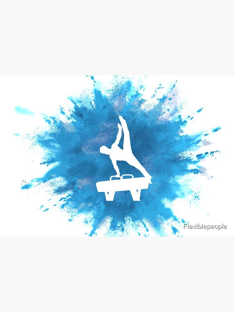 Mens Gymnastics Explosion Blue by Flexiblepeople