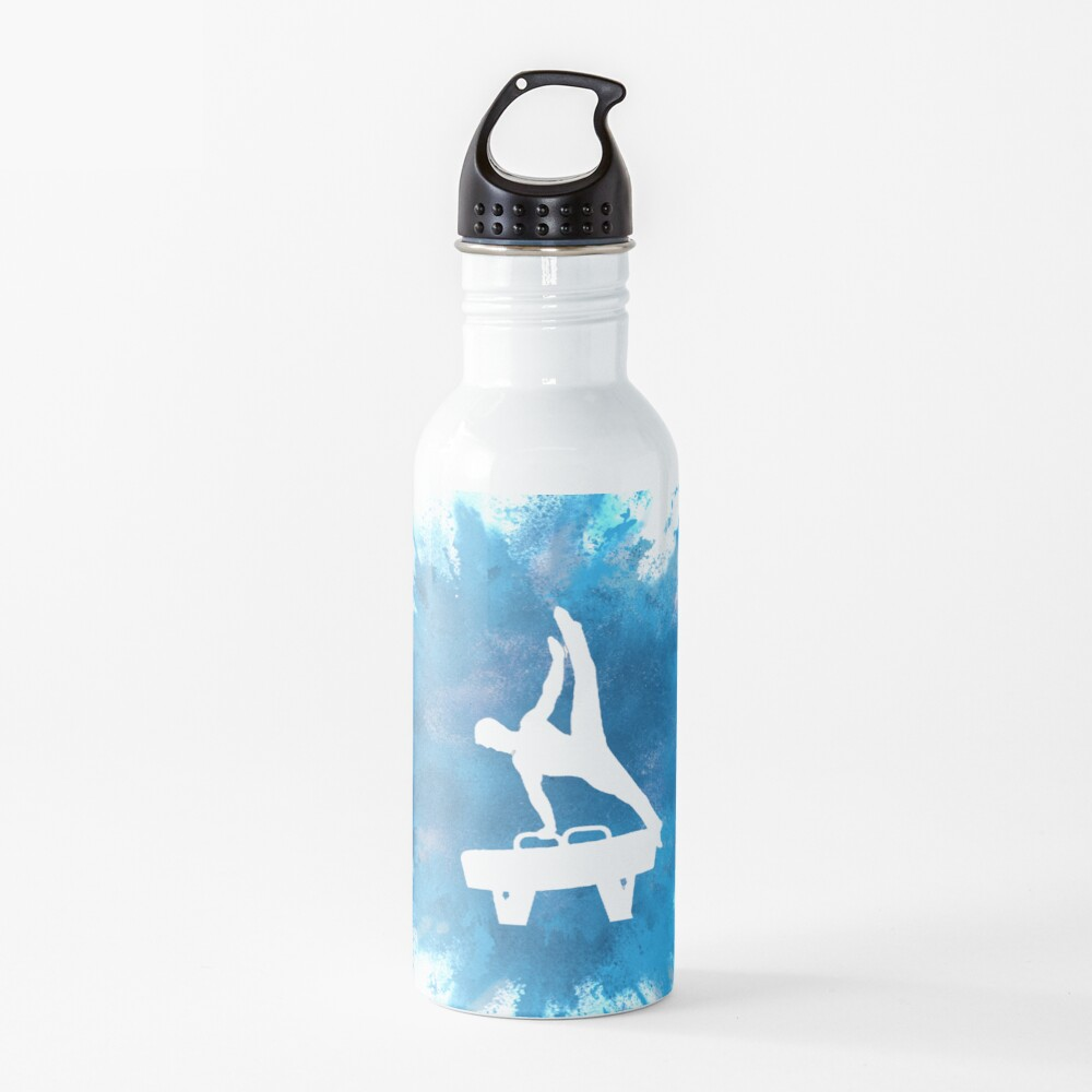 Mens Gymnastics Explosion Blue Water Bottle