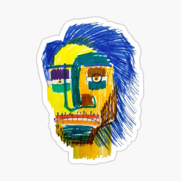 Marker Face Sticker