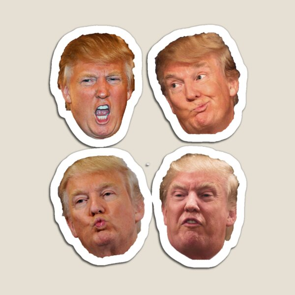 4 pack stickers Trump Heads Magnet