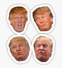 4 Pack Aufkleber Trump Heads Sticker
