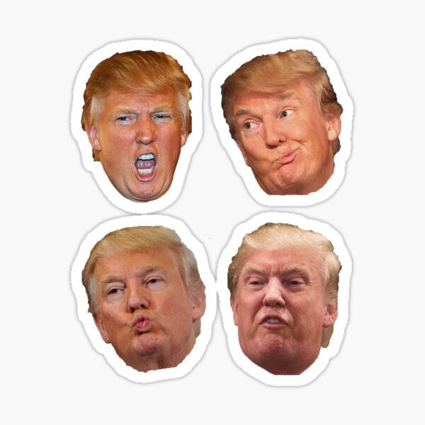 Pack de 4 autocollants Trump Heads Sticker