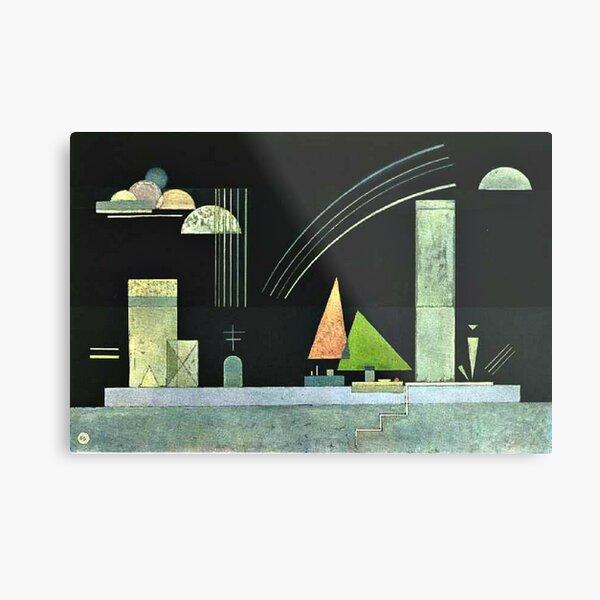 Kandinsky - At Rest, popular abstract artwork Metal Print