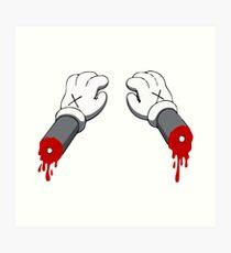 Cut Your Hand Art Print