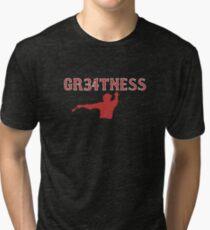 GR34TNESS--David Ortiz Tri-blend T-Shirt