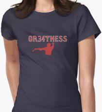 GR34TNESS--David Ortiz Women's Fitted T-Shirt