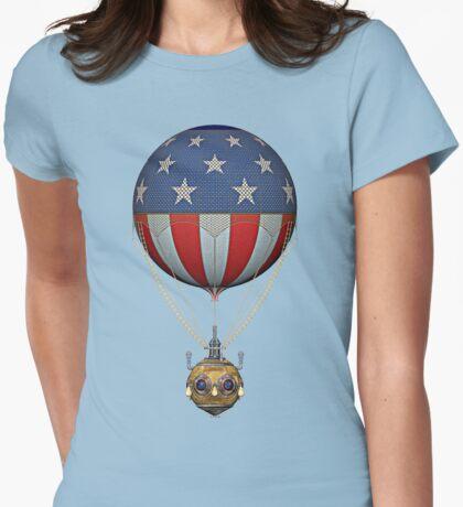 Steampunk Stars and Stripes Vintage Hot Air Balloon T-Shirt