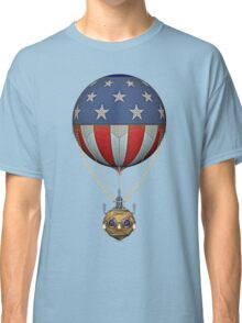 Steampunk Stars and Stripes Vintage Hot Air Balloon Classic T-Shirt