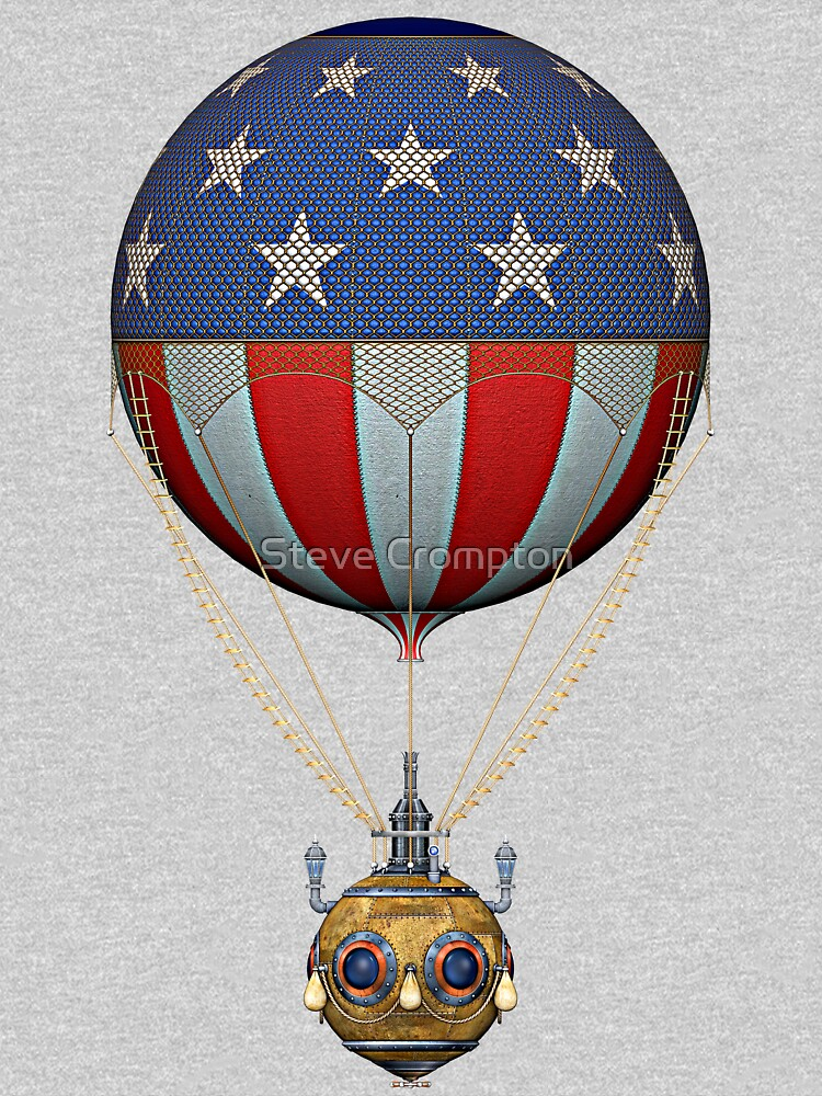 Steampunk Stars and Stripes Vintage Hot Air Balloon by SC001