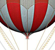 Steampunk Stars and Stripes Vintage Hot Air Balloon Sticker