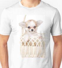 Cute fluffy white dog puppy chihuahua T-Shirt