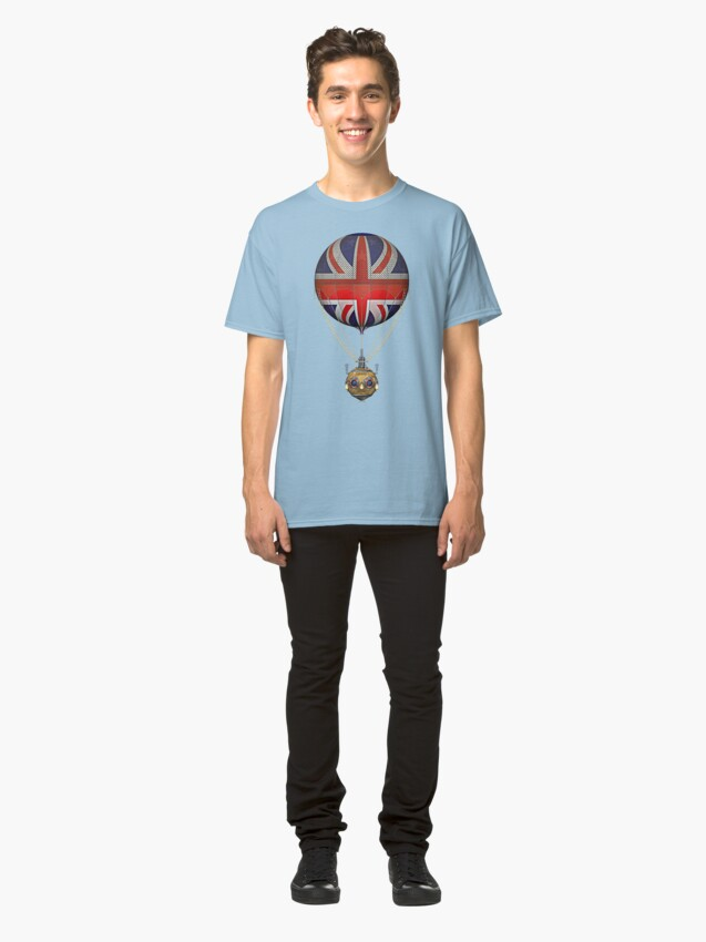 Alternate view of Steampunk Union Jack Vintage Hot Air Balloon Classic T-Shirt