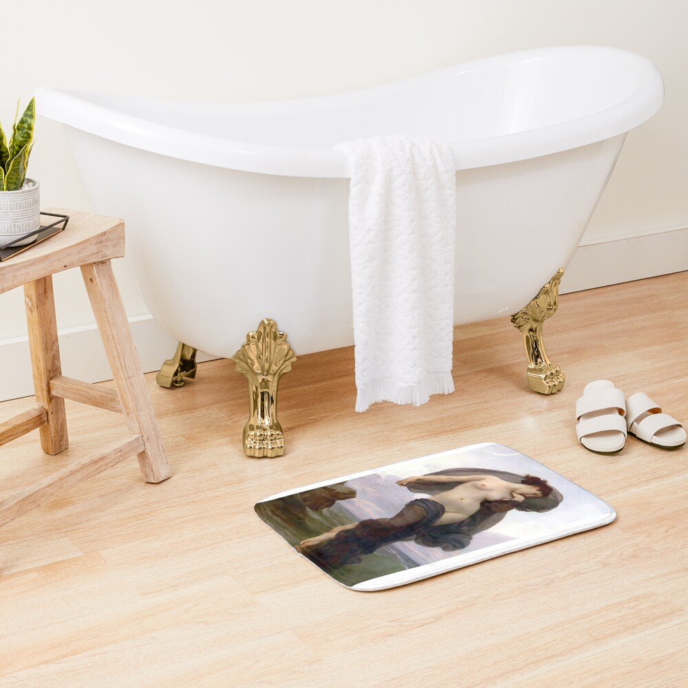 Evening Mood painting by William-Adolphe Bouguereau Bath Mat
