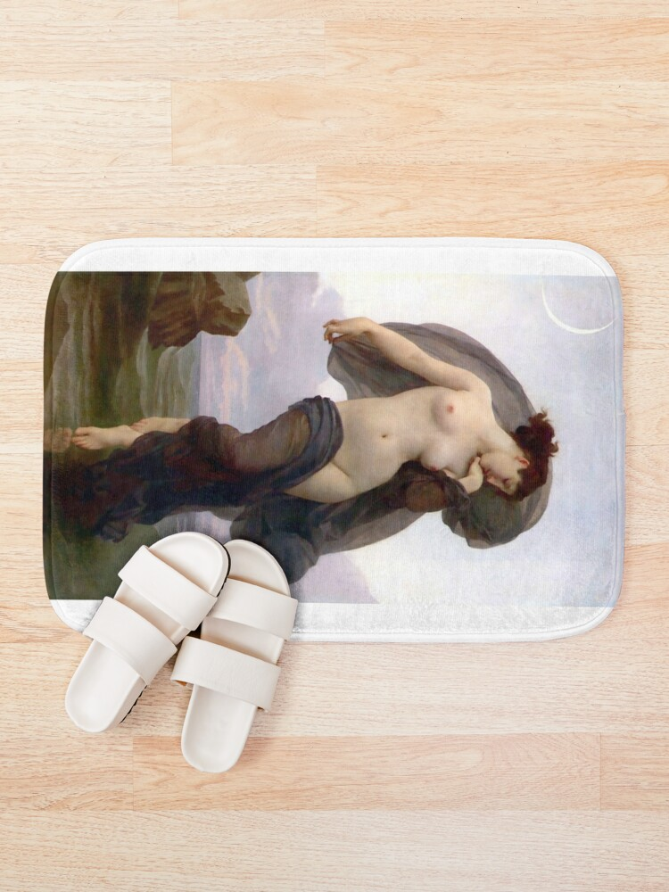 Alternate view of Evening Mood painting by William-Adolphe Bouguereau Bath Mat