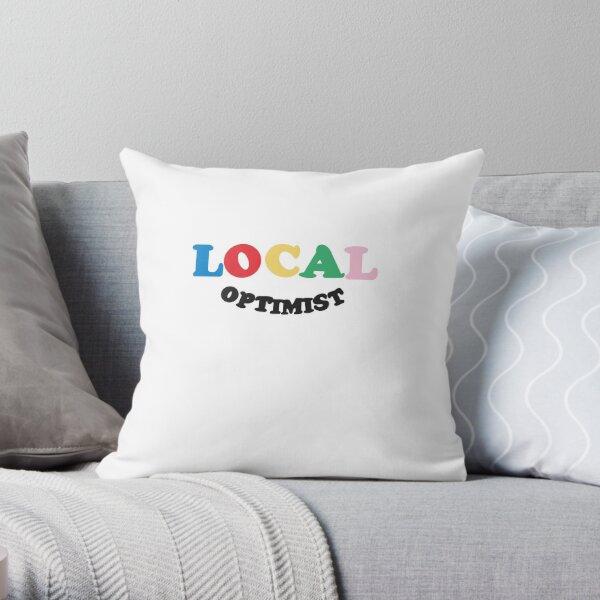 Multi color local optimist  Throw Pillow