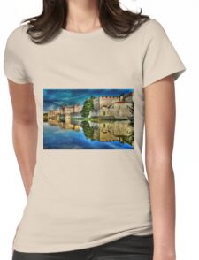 Reflections from a majestic Castle HDR Womens Fitted T-Shirt