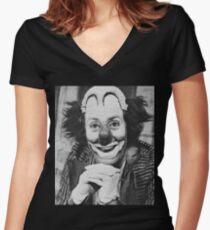 Patof le roi des clowns Women's Fitted V-Neck T-Shirt