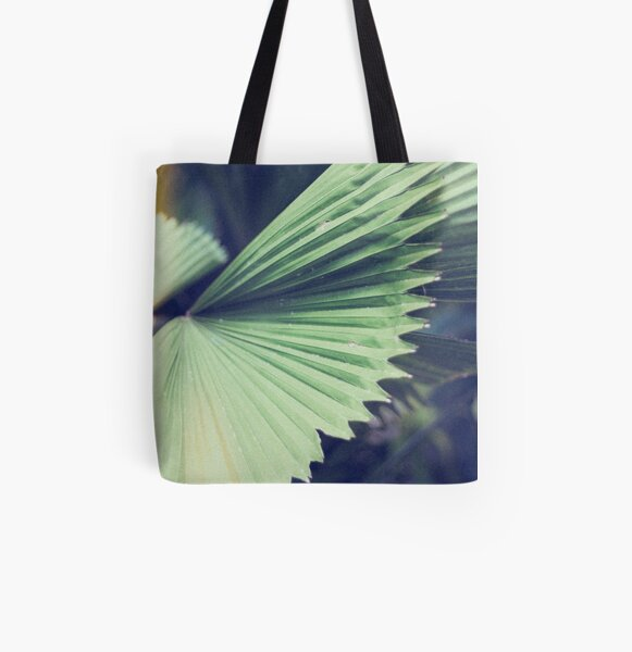 Fan Waves All Over Print Tote Bag