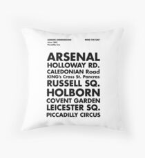 Piccadilly Line in Futura Throw Pillow