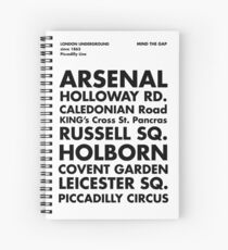 Piccadilly Line in Futura Spiral Notebook