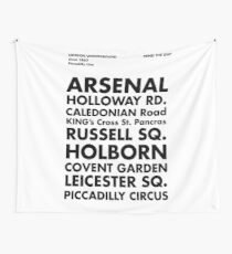 Piccadilly Line in Futura Wall Tapestry