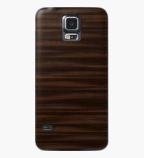 Holz - Eichenmoor Hülle & Klebefolie für Samsung Galaxy