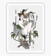 The Herons Sticker