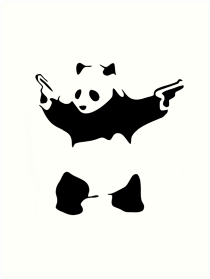 Funny Gangster Panda By Rott515