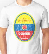 Camiseta ajustada Fútbol - Colombia (angustiado)