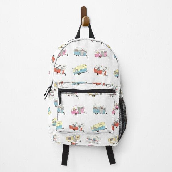 Vintage Camper Drawing Design Backpack
