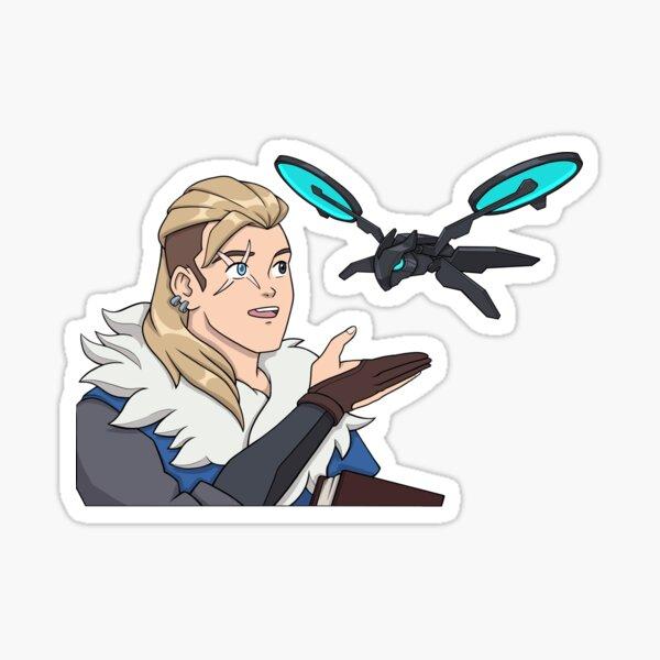 meme de mariposa pero su versión Sova con hes Drone! Pegatina