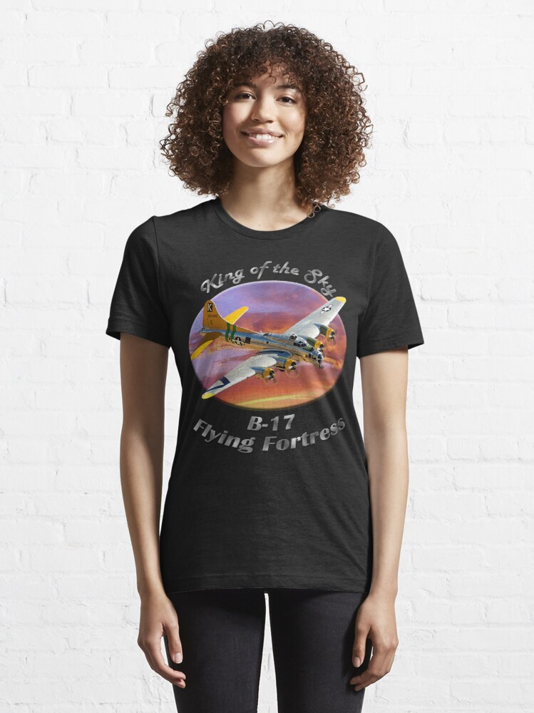 Alternate view of B-17 Flying Fortress King of the Sky Essential T-Shirt