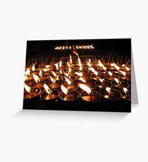 Tibetan Buddhist Butter Lamps Greeting Card