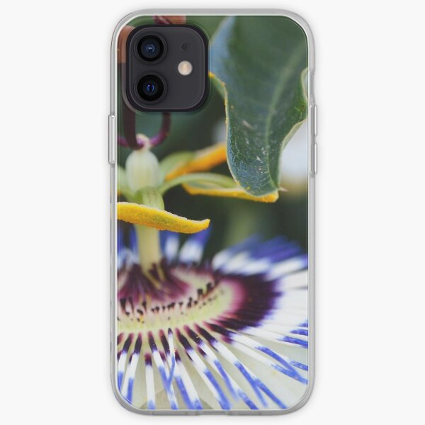 Passionflower (passiflora) from my neighborhood iPhone Soft Case