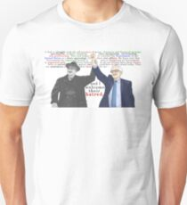 """""""We welcome their hatred.""""   Full Quote V.2   Franklin D. Roosevelt & Bernie Sanders Unisex T-Shirt"""