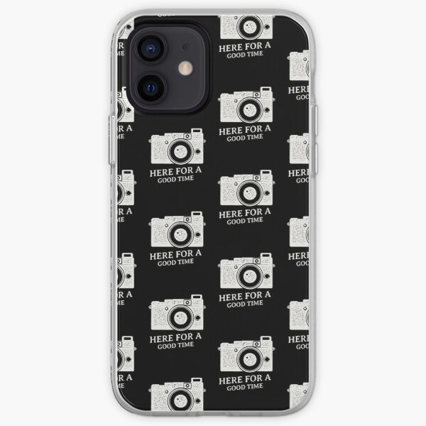 ON CAMERA FLASH, HERE FOR A GOOD TIME. iPhone Soft Case