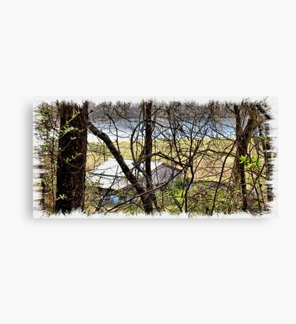 """""""A Sneak Peek of the Old Farm and the Tale Behind It""""... prints and products Canvas Print"""