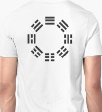 I Ching, Symbol, Chinese, China, Book of Changes, Black on White T-Shirt