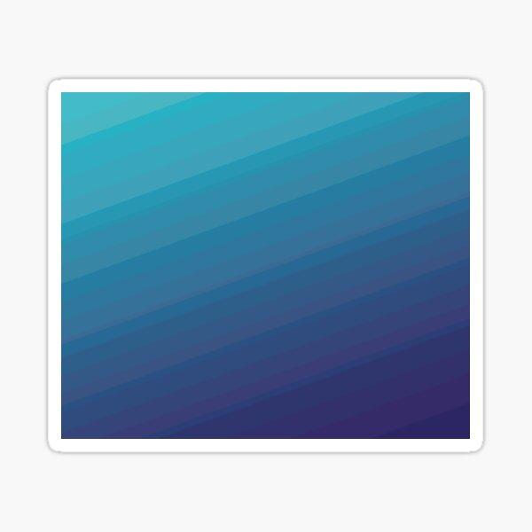 Retro gradient blue, deep ocean Sticker