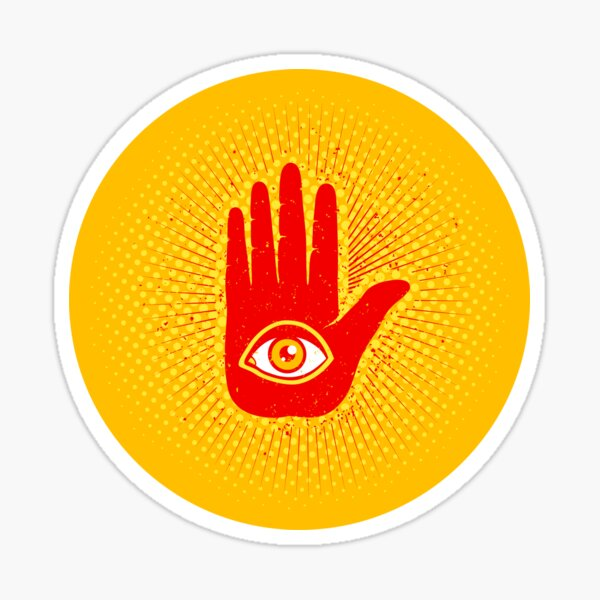 Hand and eye Sticker