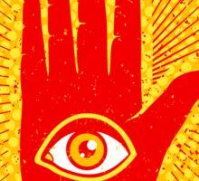Hand and eye Sticker