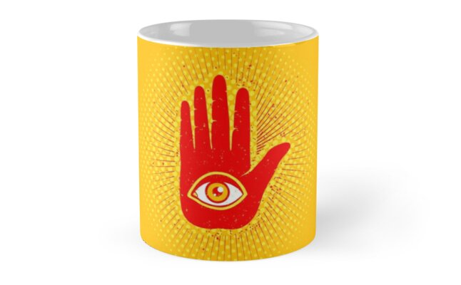 Hand And Eye Mugs By Sir13 Redbubble
