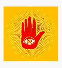 Hand and eye Photographic Print